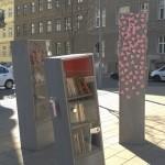 der offene Bücherschrank im Alsergrund ist auch eine Gedenkstätte des Holocaust