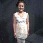 ein Mitglied des großartigen Chors nach der Aufführung: Alico Kawakami, Sopran