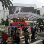 Cannes 2012. MM ist der Regen egal...