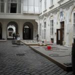 Vorbereitungen für die Terrassen