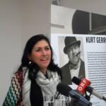 """Dr. Danielle Spera bei der Pressekonferenz zur Ausstellung """"Alle meschugge?"""""""