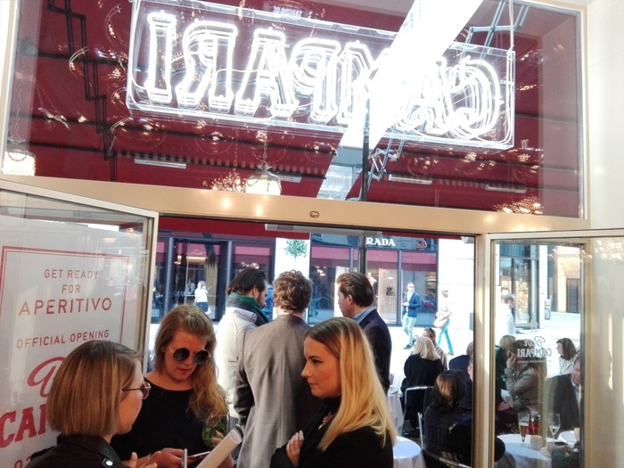Ausblick auf die Bognergasse beim Pressepreview in der Bar Campari - kekinwien.at