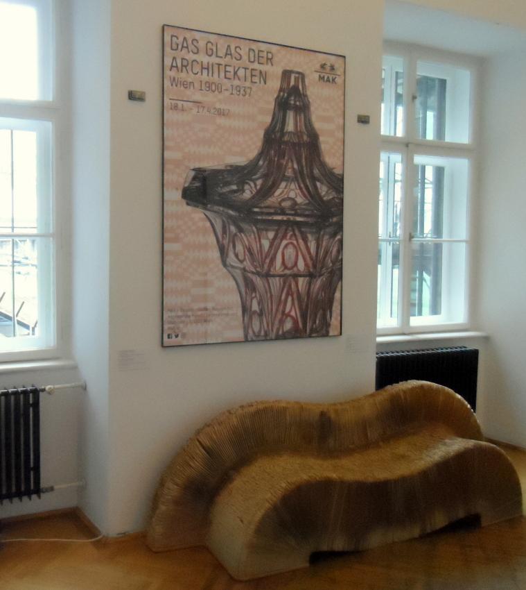 Das Glas der Architekten, Plakat zur Ausstellung im MAK, Foto (C) Claudia Busser - kekinwien.at
