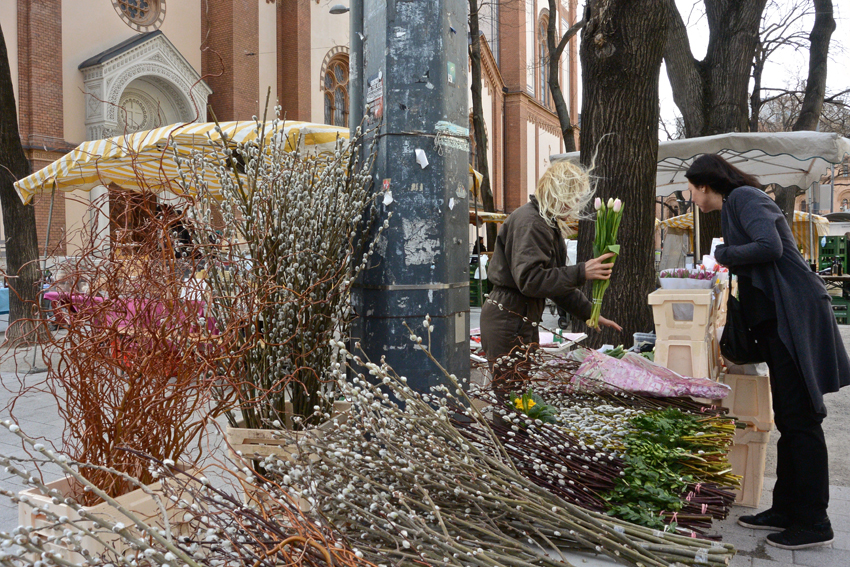 Auf dem Lerchenfeldermarkt im Frühling - kekinwien.at