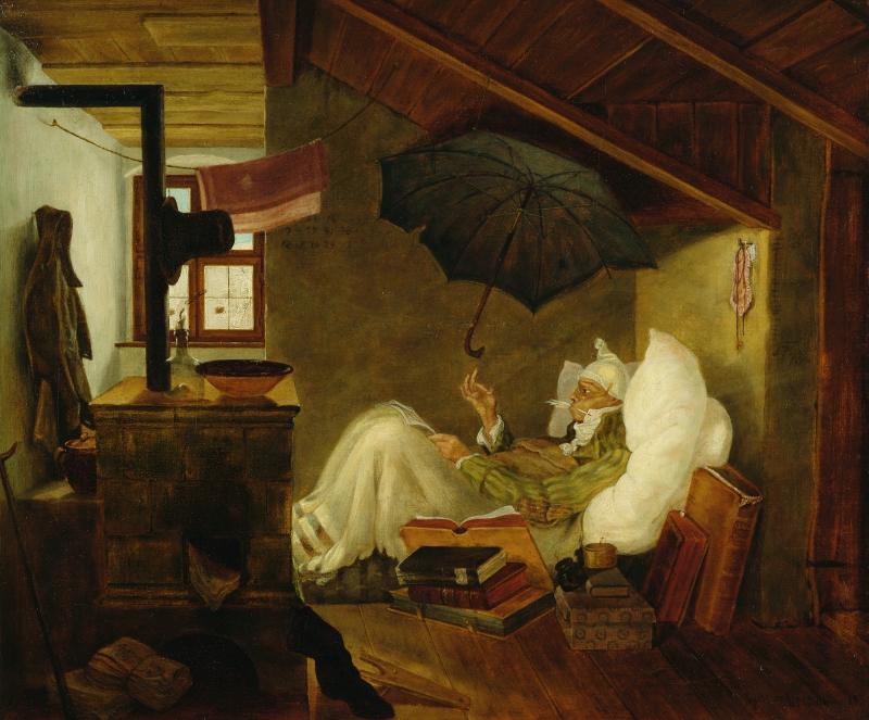 Carl Spitzweg, Der arme Poet, 1838 © Privatbesitz | Private collection Foto | Photo: Germanisches Nationalmuseum, Nürnberg/Monika Runge