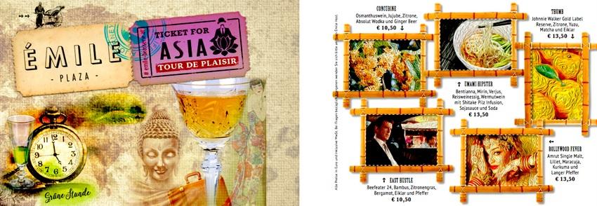 Seiten aus der Barkarte des Émile (c) ÉmileBarHiltonPlazaVienna