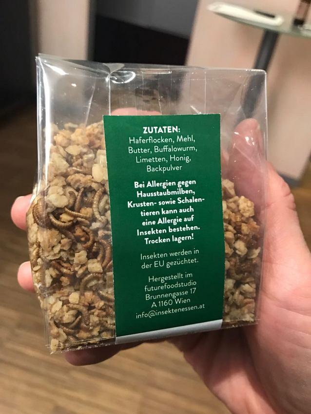 Granola, Frühstücksalternative und etwas zum Knabbern Insekten - kekinwien.at