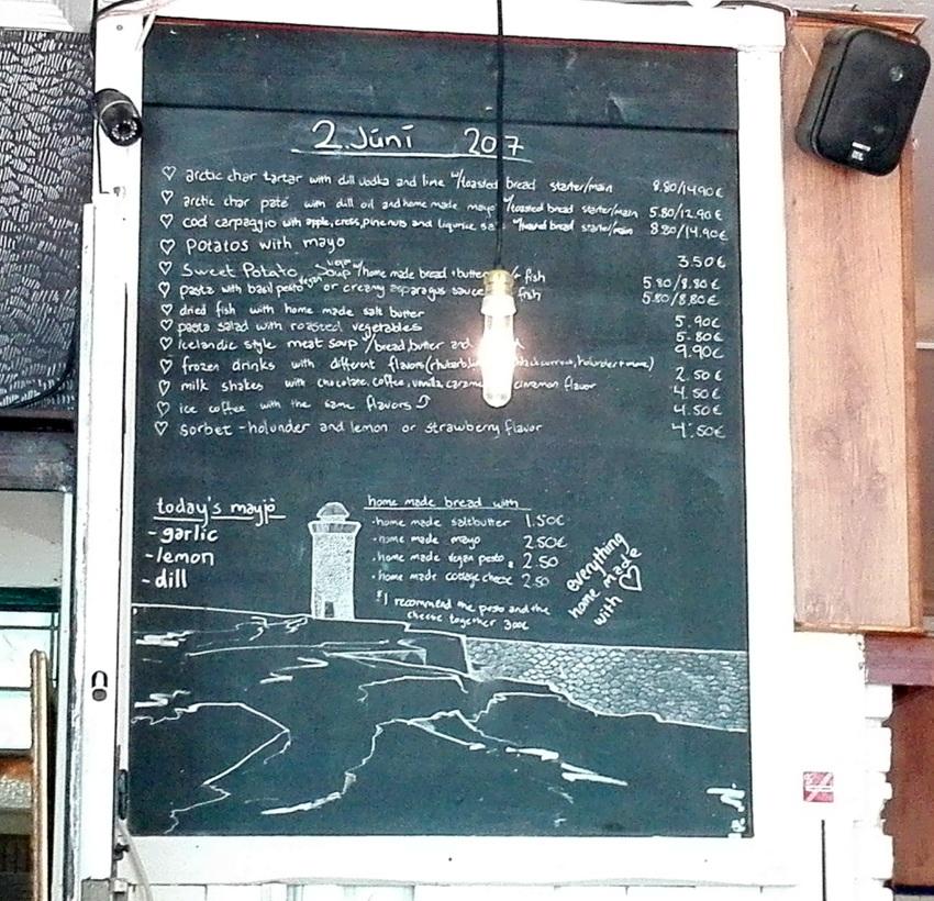 Die Speisekarte wird täglich neu geschrieben, Foto (c) Andrea Pickl - kekinwien.at