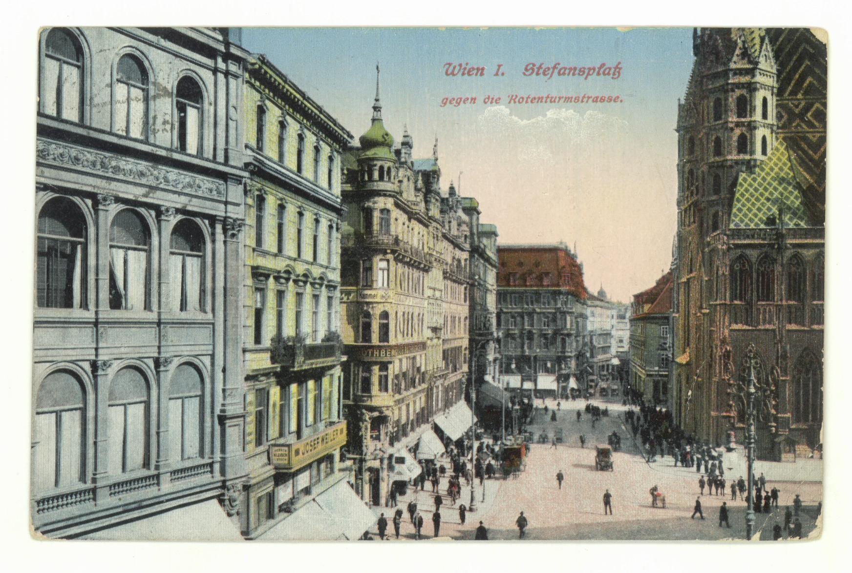 Postkarte Stephansplatz_Kaufhaus Rothberger (c) Slg Eduard Konrad.tif