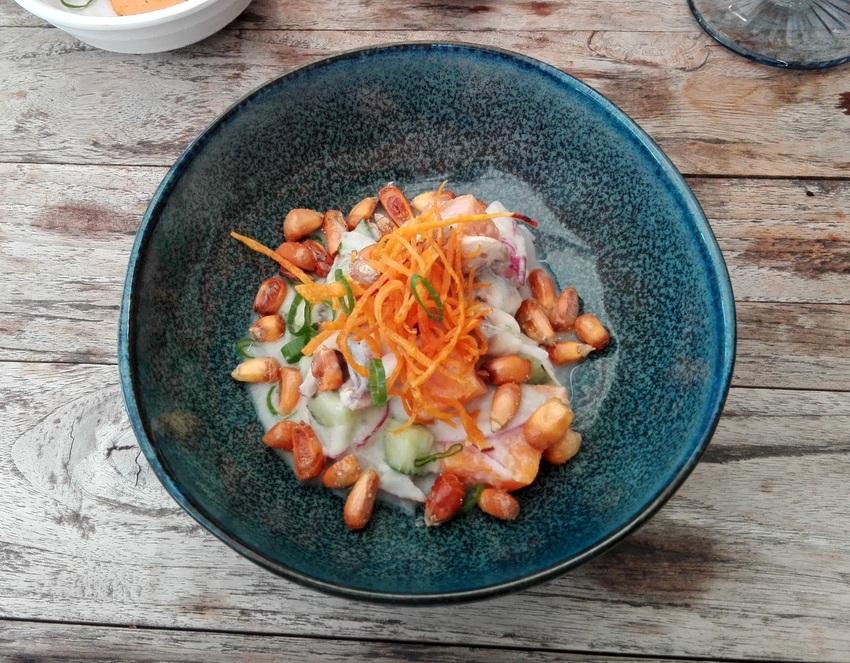 Mushroom Ceviche im Mercado Nikkei: Sehr schön ausgewogen, obwohl ja nicht wirklich ein Ceviche wie oben erklärt, Bild (c) Andrea Pickl - kekinwien.at