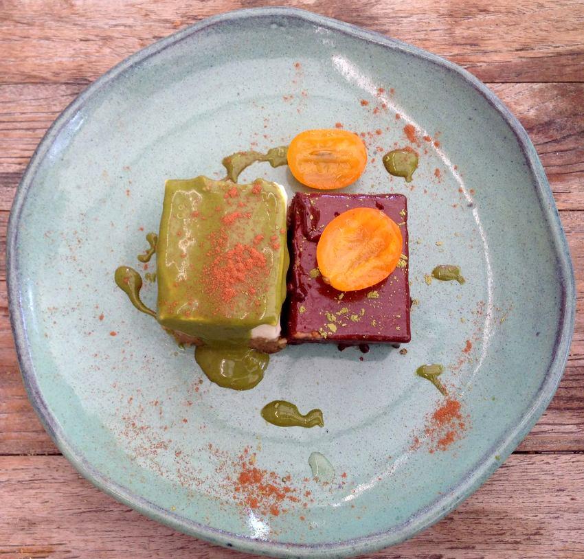 Das Dessert Macchu Matcha sollte man bedingt versuchen bitte! Alle Bestandteile zusammen im Mund sind ein echtes Erlebnis, Mercado Nikkei, Bild (c) Andrea Pickl - kekinwien.at
