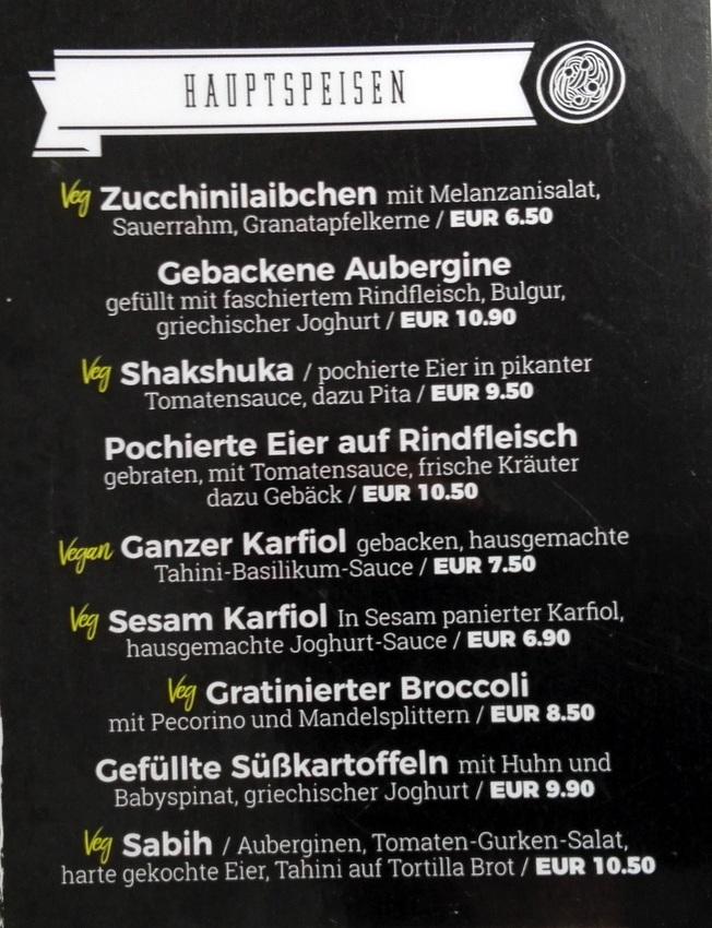 Auszug aus der Speiskarte des Florentin - kekinwien.at