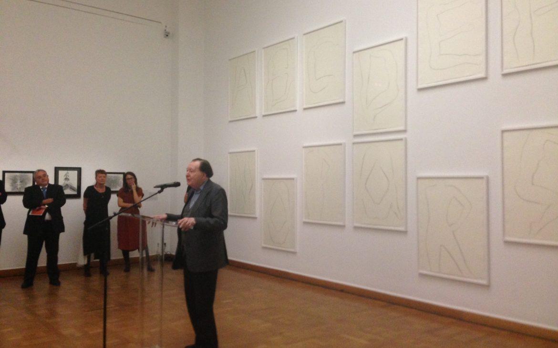Pressekonferenz. Der Künstler ist anwesend: Gerhard Rühm. Foto(c) Andrea Pickl - kekinwien.at