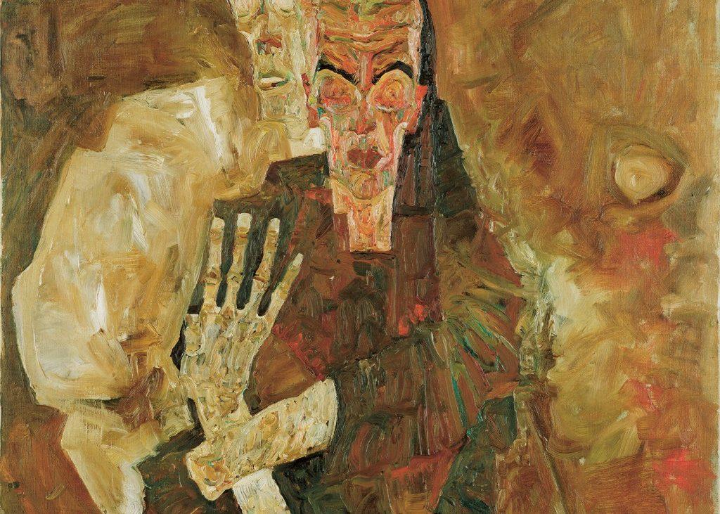 Egon Schiele, Selbstseher II (Tod und Mann), 1911, © Leopold Museum, Wien, Öl auf Leinwand, 80,5 × 80 cm