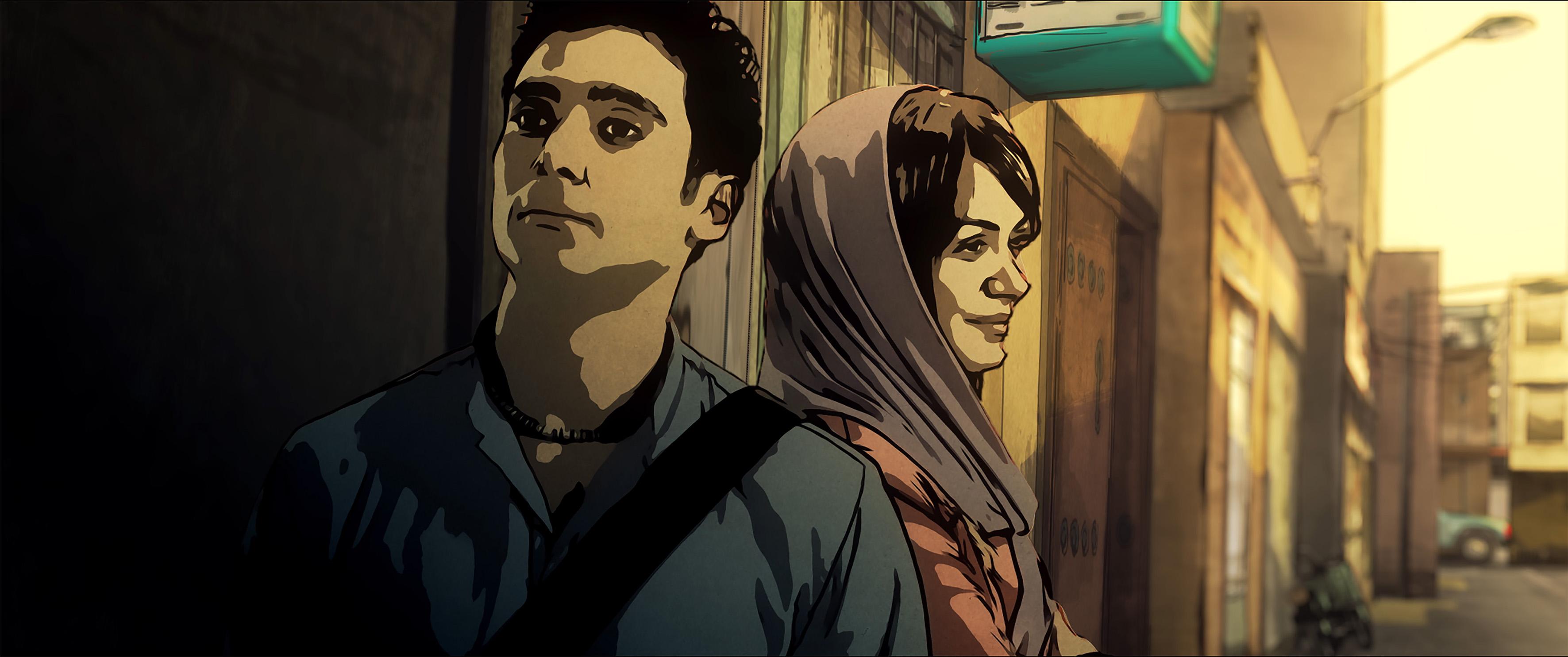 Babak und Donya auf der Straße © Filmladen Filmverleih