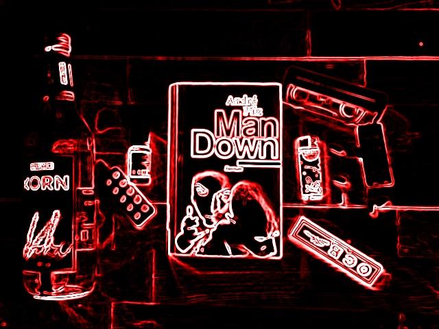 Collage zum Buch Man Down vonAndré Pilz, Bild (c) Alexandra Wögerbauer-Flicker