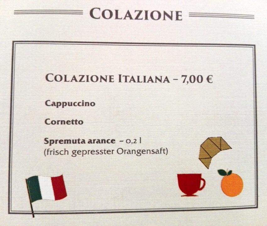 Original Italienisches Frühstück, Bild (c) Claudia Busser - kekinwien.at