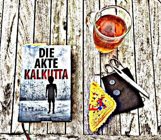 Die Akte Kalkutta, ein Erstlingsroman, Collage zum Buchcover, Bild (c) Alexandra Wögerbauer-Flicker - kekinwien.at