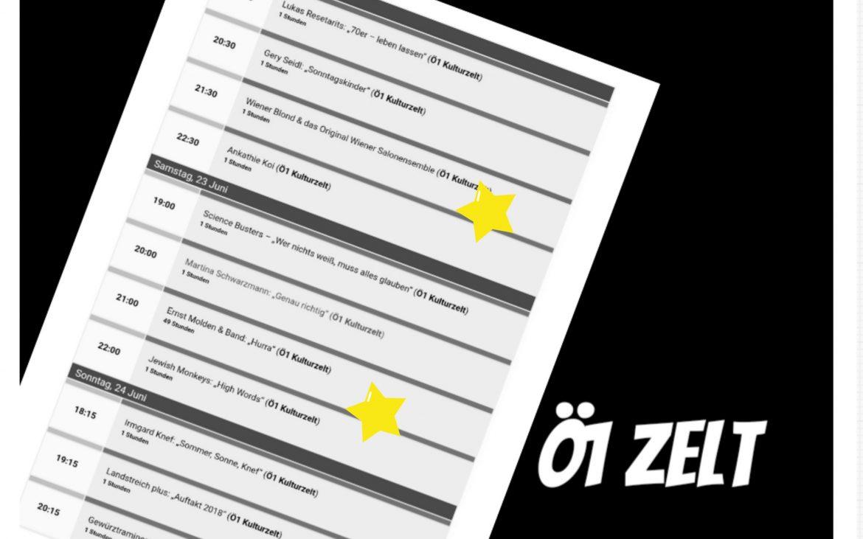 Doanauinselfest 2018, das Programm im Ö1 Kulturzelt, Collage (c) Andrea Pickl - kekinwien.at