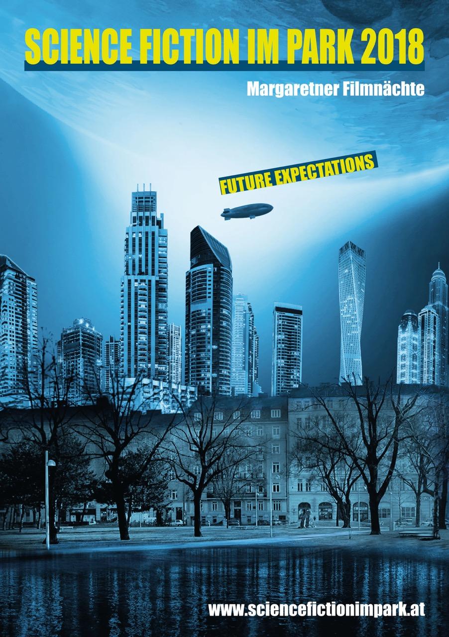 Plakat / science fiction im Park