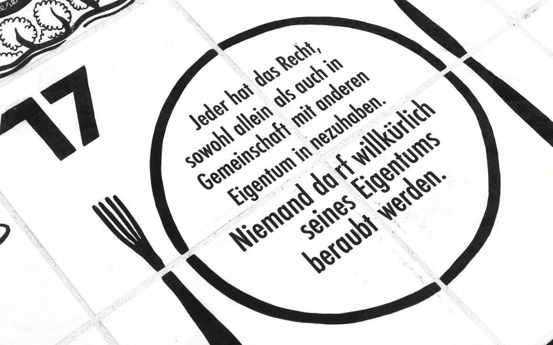 Detailansicht Wiener Bankett der Menschenrechte und ihre HüterInnen, Françoise Schein, Foto (c) Cajetan Jacob - kekinwien.at