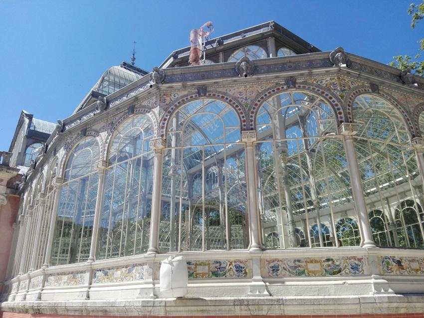 Palacio de Cristal, Madrid, Teilansicht außen, Bild () Claudia Busser - kekinwien.at