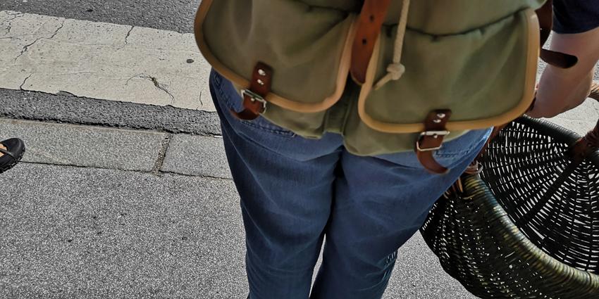 Was mitnehmen zum Einkaufen auf dem Markt? Zum Beispiel einen Rucksack. Bild (c) Mischa Reska - kekinwien.at