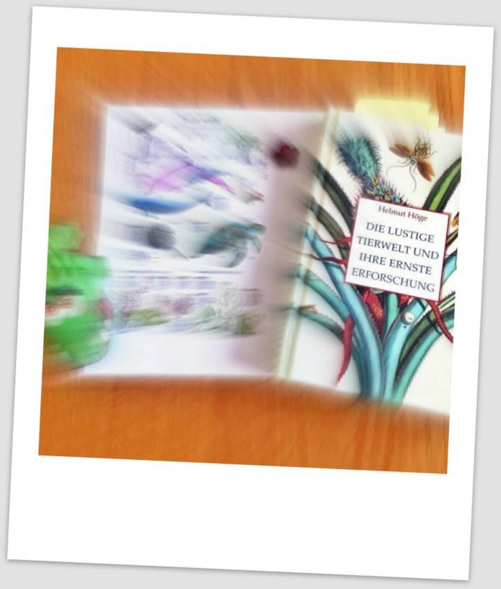 Die lustige Tierwelt und ihre ernste Erforschung, Sachbuch von Helmut Höge, Kollage (c) Alexandra Wögerbauer-Flicker - kekinwien.at