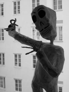 Calaverasfigur von Stephany Rodriguez (unfertig)