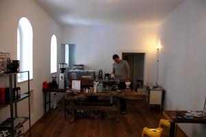 das Herzstück im POC, die Kaffeemaschine