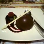 das Dessert ist immer schokoladig im Holy-Moly, weil ja vom Xocolat