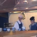 Produktionstag im Mochi in der offenen Küche