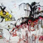 Alexei Kostroma, Debts, Basquiat and Andy Warhol, 2010, oil on paper, 150 x 200 cm © Pecherskiy Gallery, Moscow