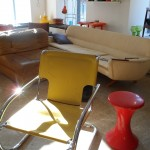 gelbe Freischwingerschönheit in Stahlrohr