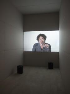 Unruhe der From, Rabih Mroué: The Pixelated Revolution, Ausstellungsansicht im xhibit, Akademie der bildenden Künste Wien Foto © Armin Bardel