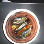 Tajine: Sardinen, Paprika, Karttoffel