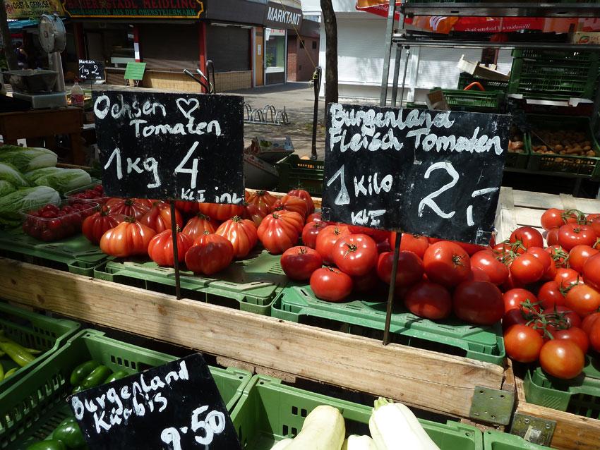 Ochsenherzen auf dem Meidlinger Markt