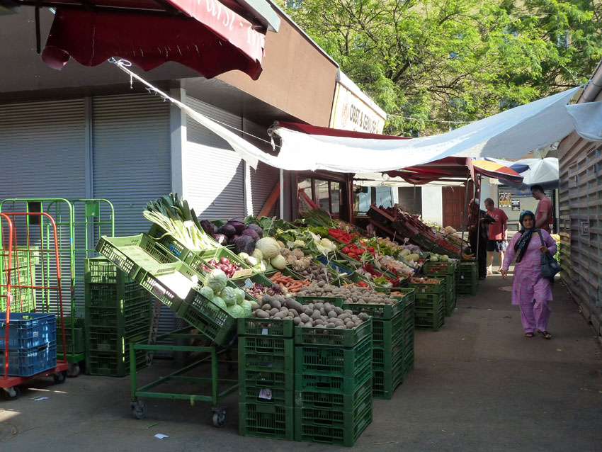 Gemüsestand auf dem Meidlinger Markt