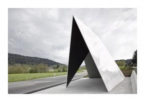 BUS:STOP Krumbach Unterkrumbach Süd. Architektur / Entwurf: Architecten De Vylder Vinck Taillieu; Architektur / Ausführung: Thomas Mennel 02.jpg, 6 MB © Adolf Bereuter