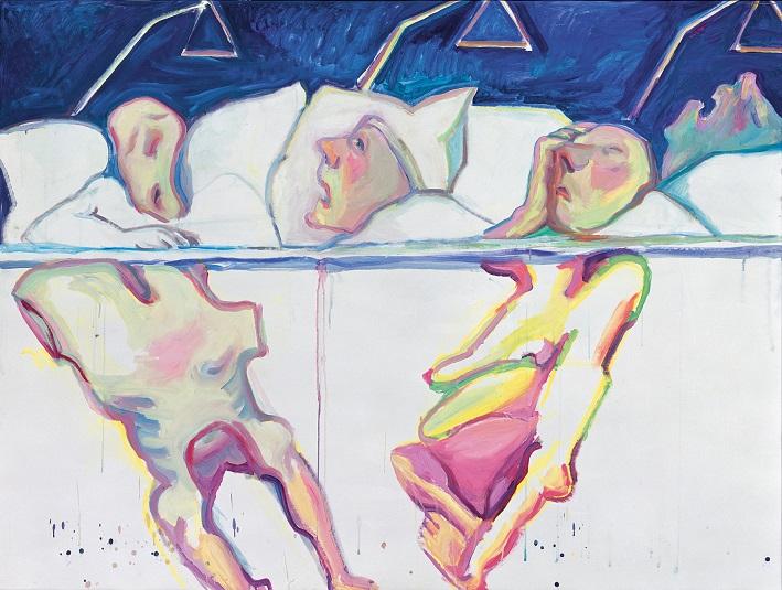 Maria Lassnig, Krankenhaus, 2005 Öl auf Leinwand 150 x 200 cm Privatsammlung, Courtesy Hauser & Wirth
