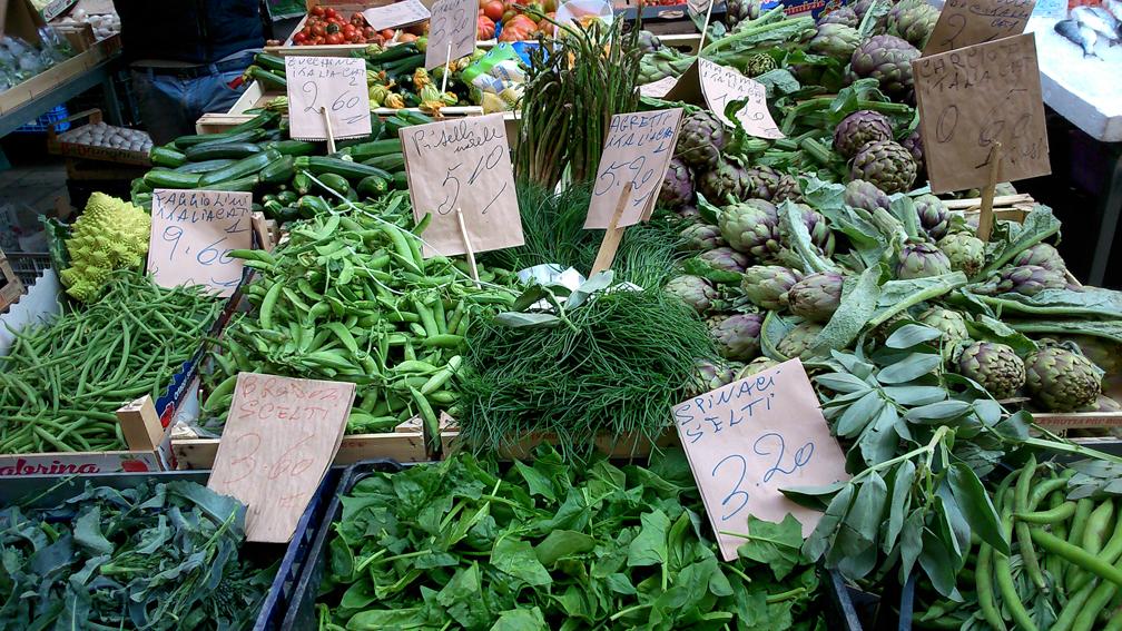 Gemüse auf dem Markt in Venedig
