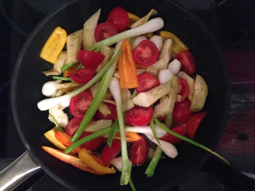 Gemüse für das Italienische Huhn à la kek, Foto (c) Andrea Pickl - kekinwien.at