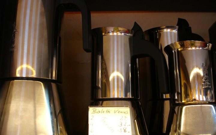 Espressomaschinen aus dem Verkaufssortiment der Kaffeebohne,  Foto © Hadwig Fink – kekinwien.at