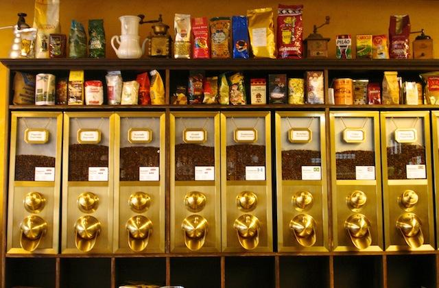 Kaffeeverkauf in der Kaffeebohne, Foto © Hadwig Fink – kekinwien.at