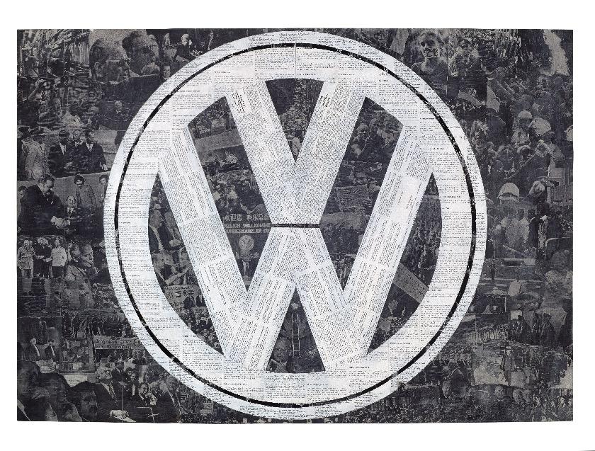Marcel Odenbach, Deutsches Symbol (VW), 1994 Marcel Odenbach, Deutsches Symbol (VW), 1994, Courtesy der Künstler, Galerie Gisela Capitain, Köln und Galerie Crone, Berlin