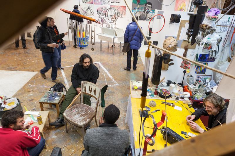 Einblick in den Fachbereich Kontextuelle Malerei, Rundgang 2015, Foto (c) Lisa Rastl