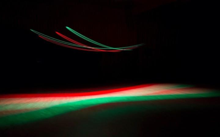 Eine Lichtinstallation des austro-amerikanischen Künstlers Erwin Redl. Pressefoto der Montforter Zwischentöne