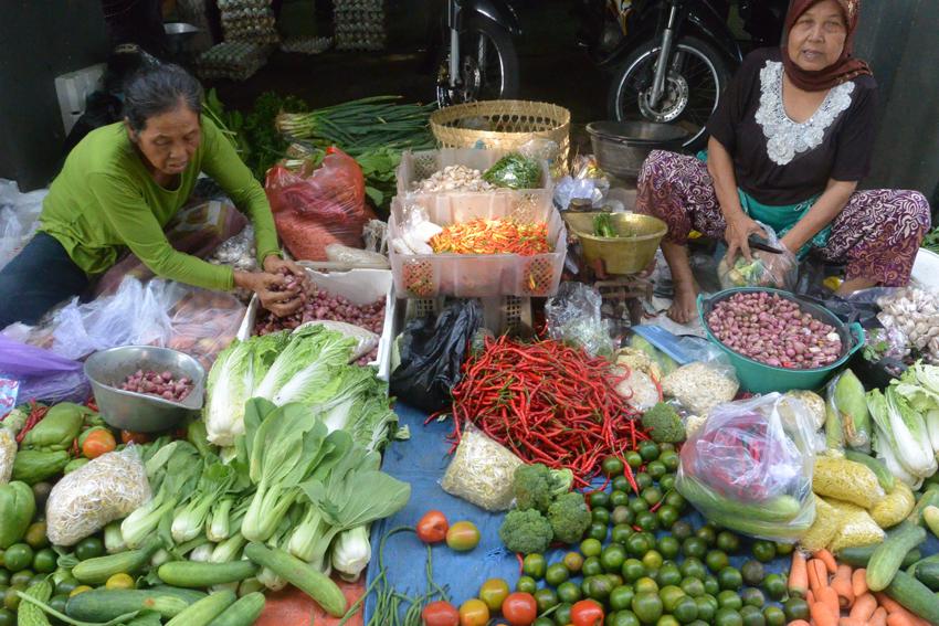 Gemüse auf dem Markt in Indonesien, Foto (c) Mischa Reska - kekinwien.at