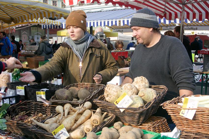 Knollen! Auf dem Markt im Winter - kekinwien.at