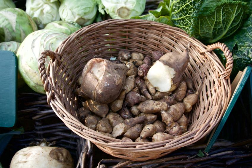 Kerbelwurzel, auf dem winterlichen Markt - kekinwien.at